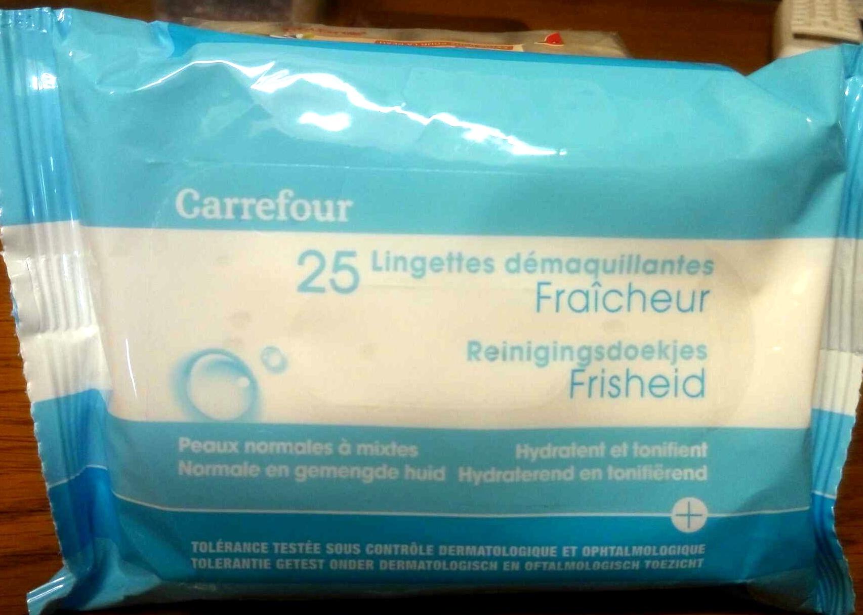 25 lingettes démaquillantes fraîcheur - Produit - fr