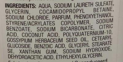 Crème de douche lait de coton hydratante - Ingredients