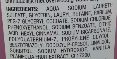 Gel douche Orchidée délassant - Ingrédients