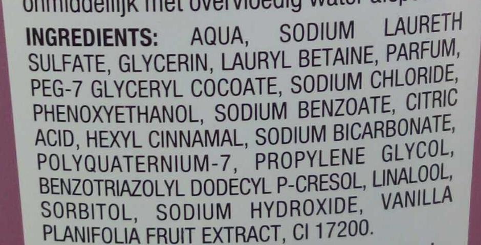 Gel douche Orchidée délassant - Ingrédients - fr