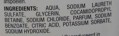 Gel douche hypoallergénique peaux sensibles - Ingredients - fr