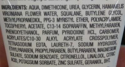 Soin de jour hydratant fondant - Ingrédients