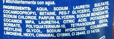 Fusion Gel 3 en 1 - Ingredients