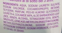 Gel moussant Aloe Vera - Ingredients - fr