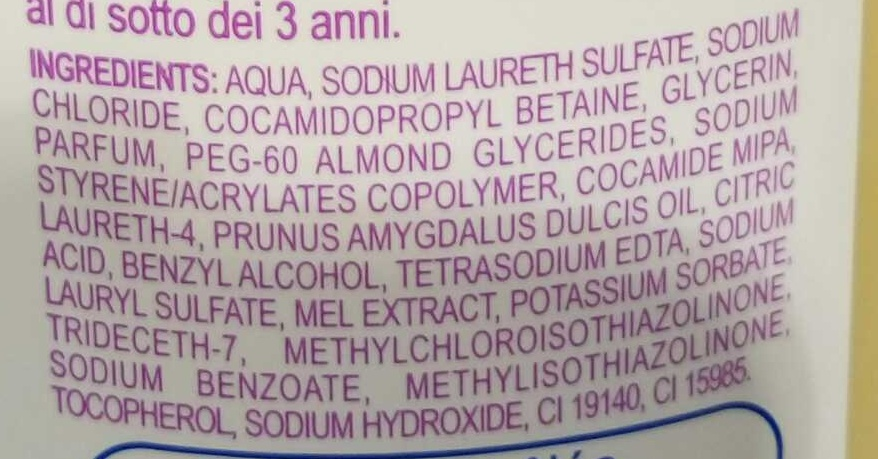 Gel mousant Amande-Miel - Ingredients - fr