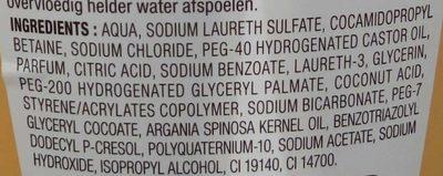 Shampooing onctueux à l'huile d'argan - Ingrédients