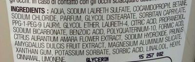 Shampooing douceur et brillance au lait d'amande douce et à la fleur d'oranger - Ingrédients