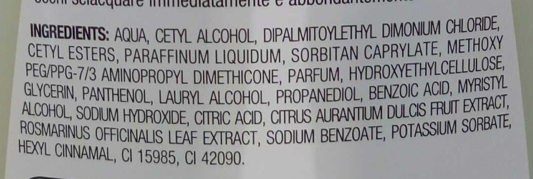 Après-shampooing normalisant - Ingredients