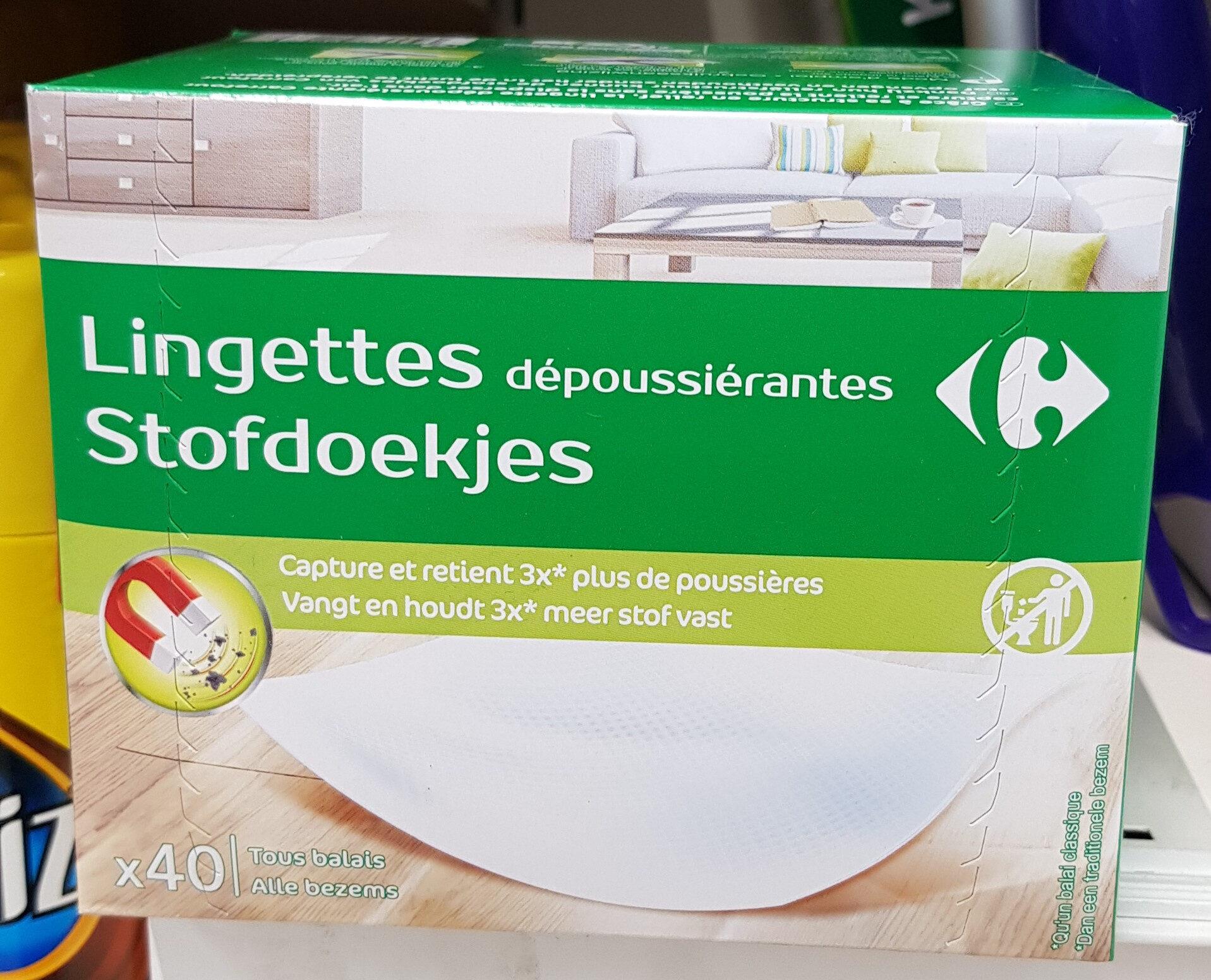 Lingettes depoussierante X40 carrefour - Product - fr