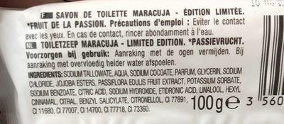 Savon de toilette Maracuja Brasil - Ingrédients
