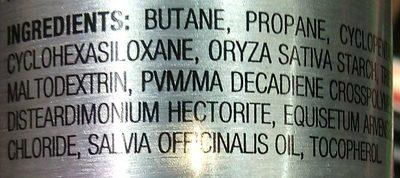 deo - Ingredients