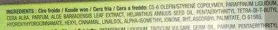 Bandes de cire froire - Aloe Vera - Jambes - Ingredients - fr