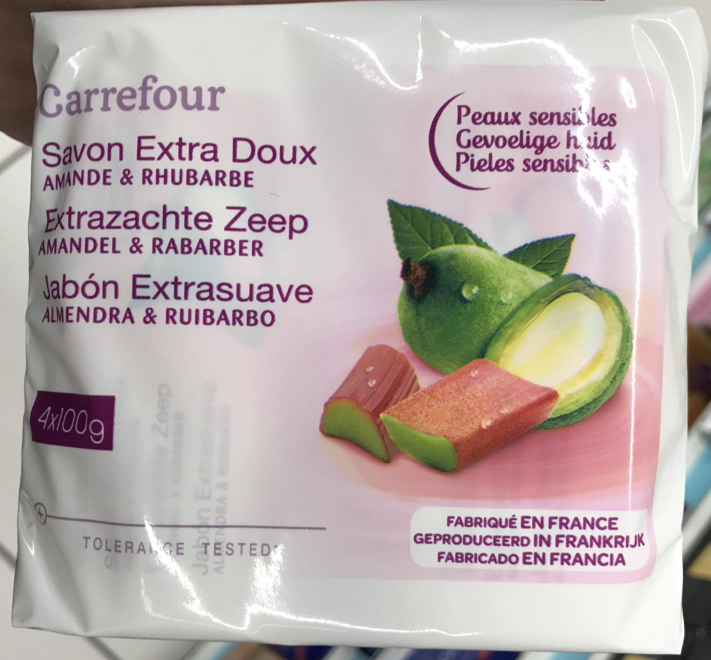 Savon extra doux Amande & Rhubarbe - Produit - fr