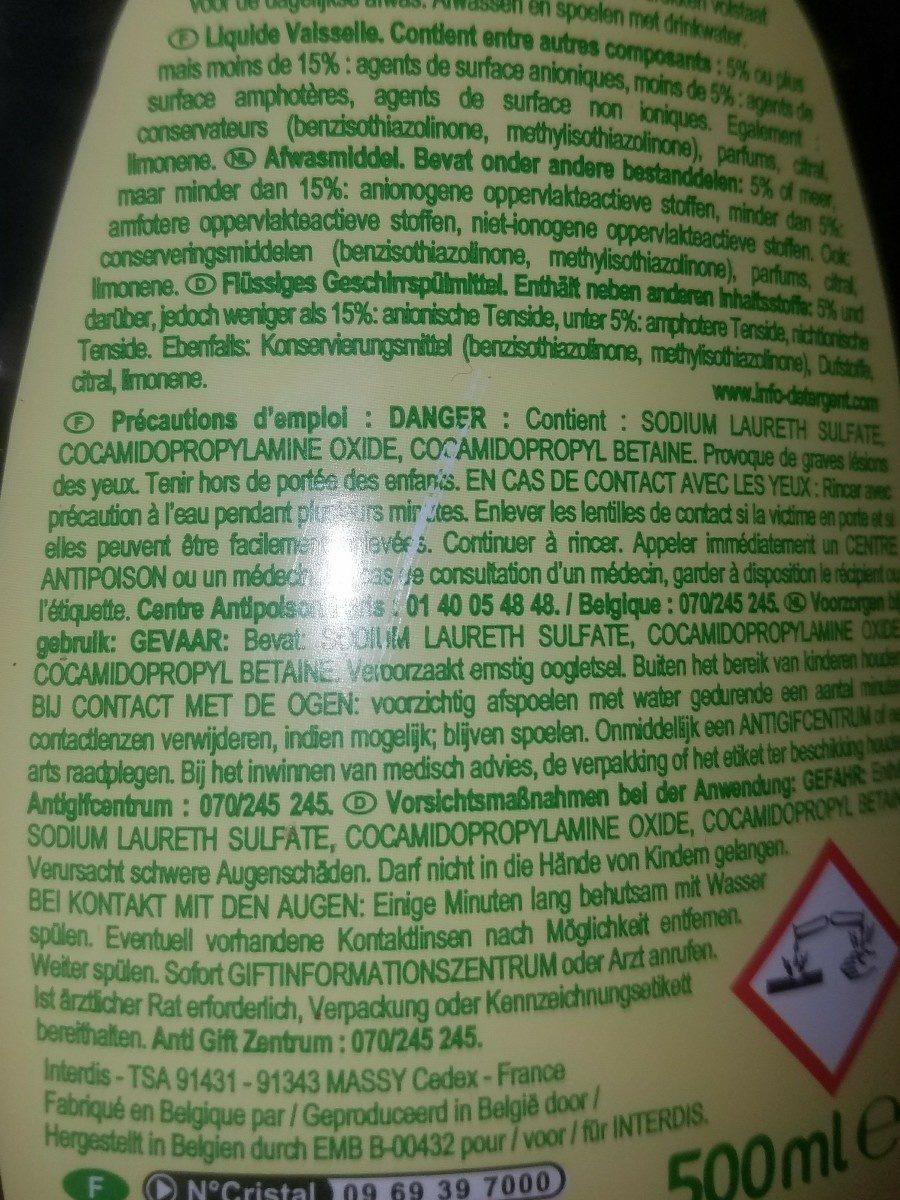 Liquide vaisselle - Ingredients - fr