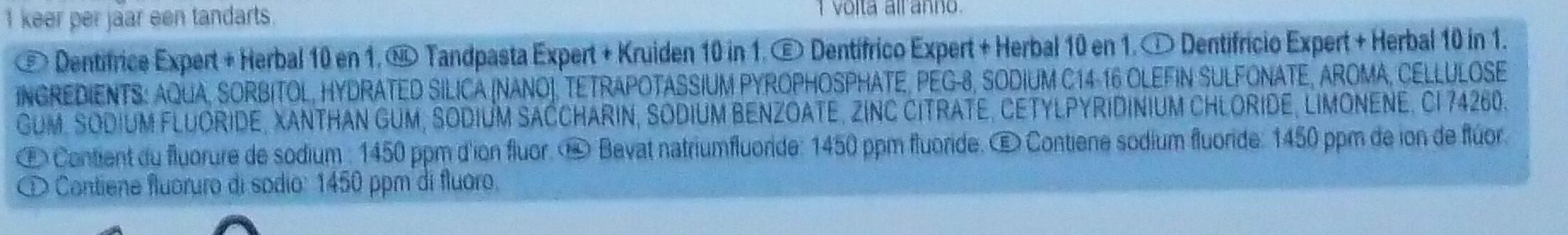 Dentalyss herbal - Ingrédients - fr