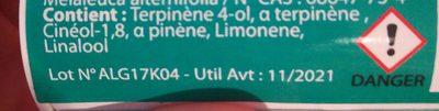Huile Essentielle Arbre à Thé 10ml - Ingrédients