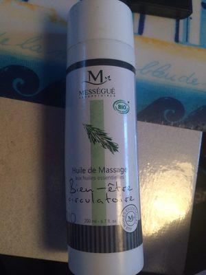 Huile de massage - Produit