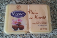 Noix de Karité - Savon surgras au beurre de karité - peaux sèches - Manava - Product