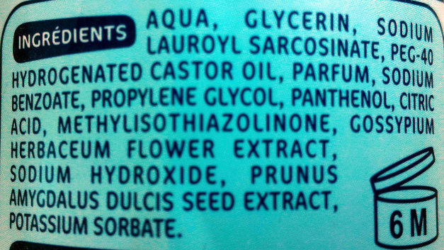 Eau nettoyante hydratante - Ingredients