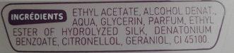 Dissolvant doux sans acétone - Ingredients