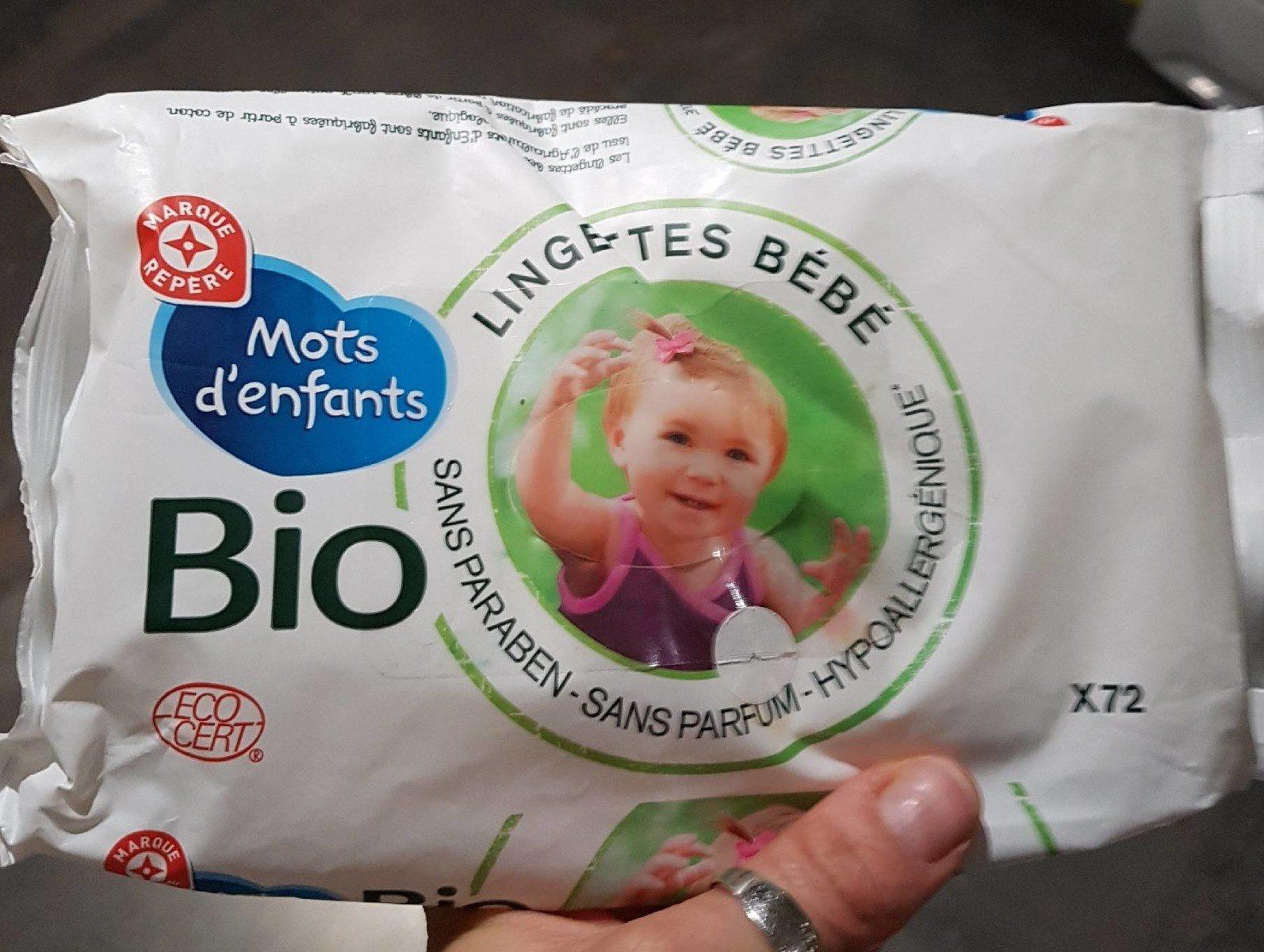 Lingettes bébé bio - Product