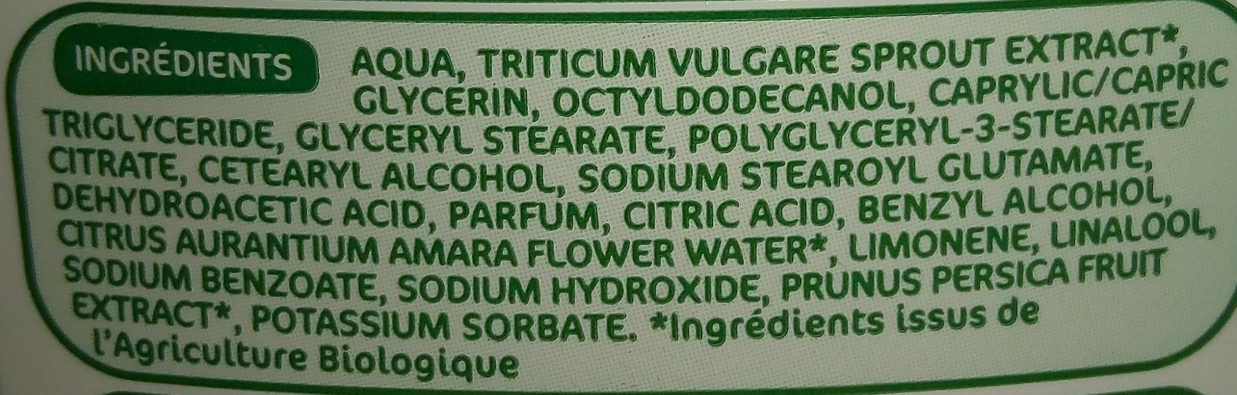 Lait Démaquillant - Ingredients - fr