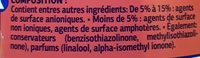Visior - Ingredients - fr