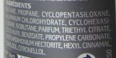 Déodorant Invisible 48H - Ingredients