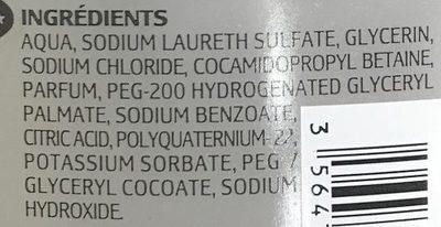 Gel douche Sensitive édition limitée - Ingredients