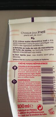 crème mains réparatrices - Ingredients - fr