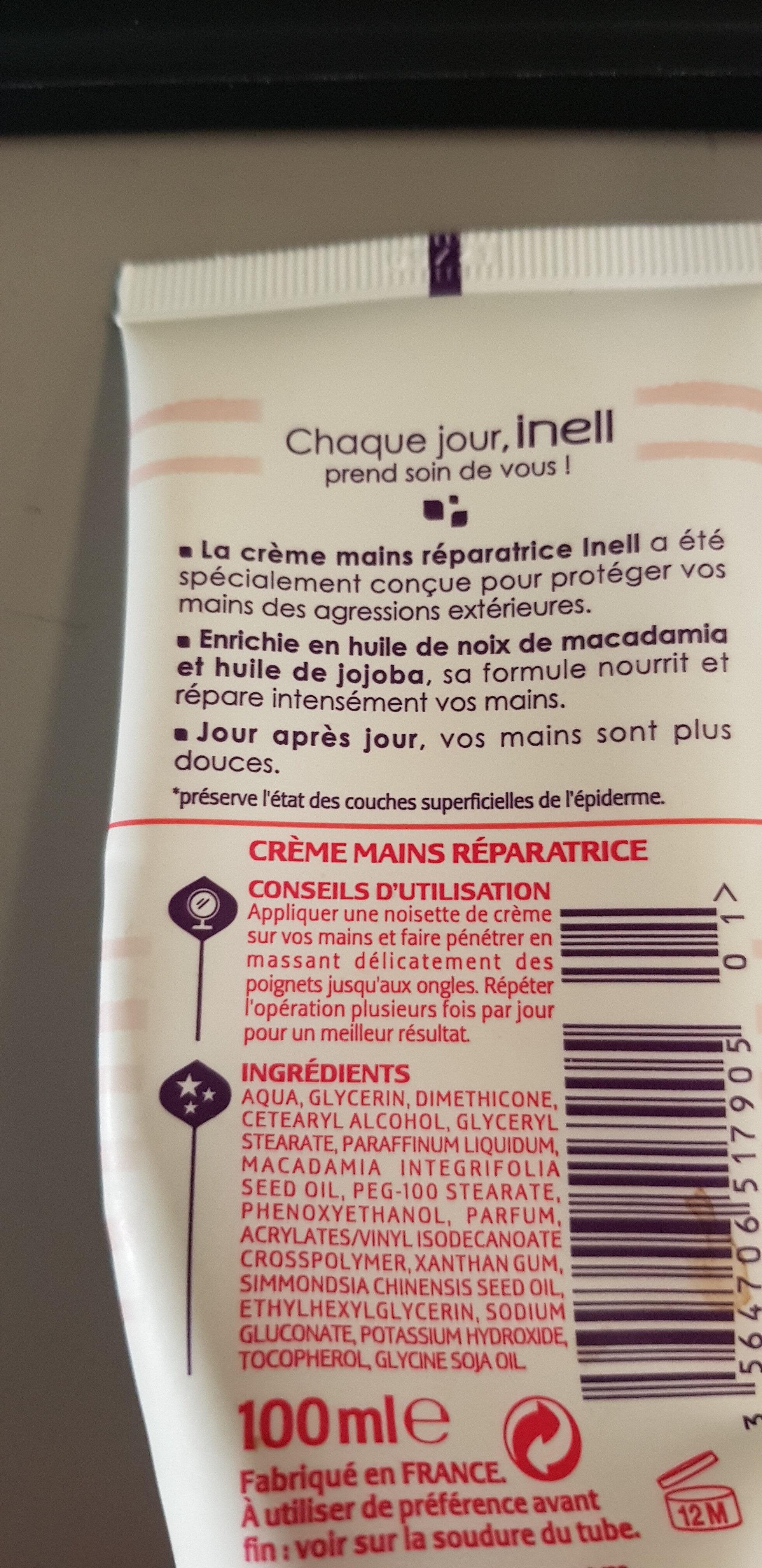crème mains réparatrices - Ingredients
