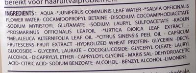 Bio Capilargil Specific Shampooing Argile et Extraits végétaux Anti-chute - Ingredients