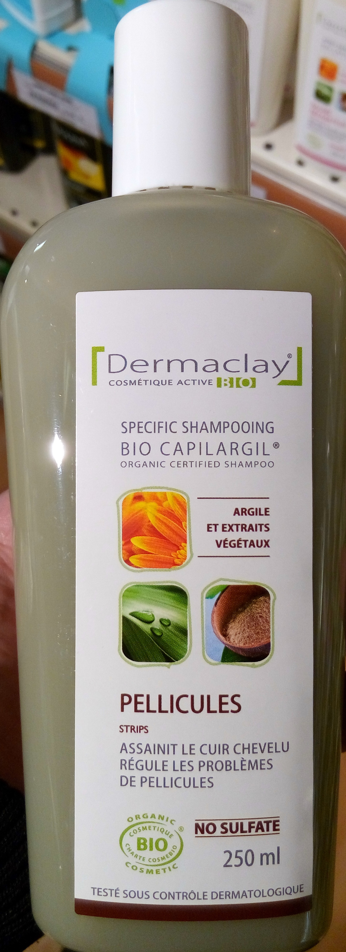 Bio Capilargil Specific Shampooing Argile et Extraits végétaux Pellicules - Product