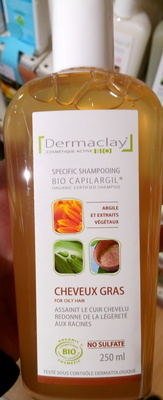 Bio Capilargil Specific Shampooing Argile et Extraits végétaux Cheveux Gras - Produit