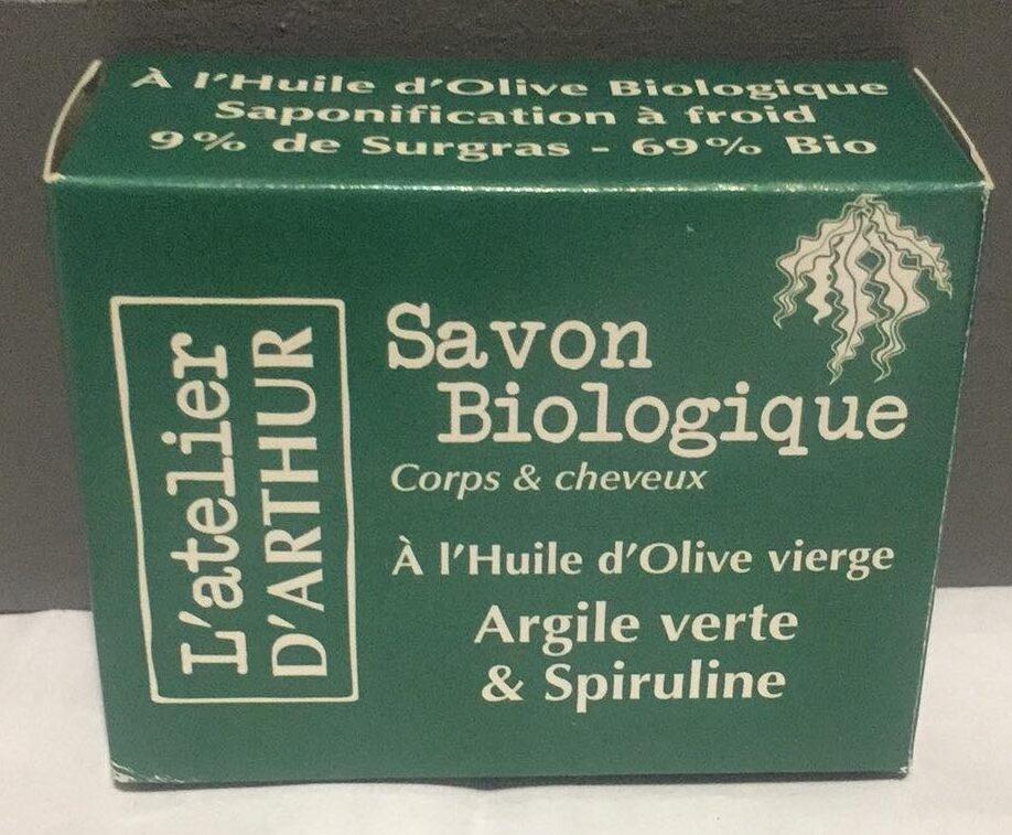 Savon Biologique à l'Huile d'Olive vierge Argile verte & Spiruline - Instruction de recyclage et/ou information d'emballage - fr