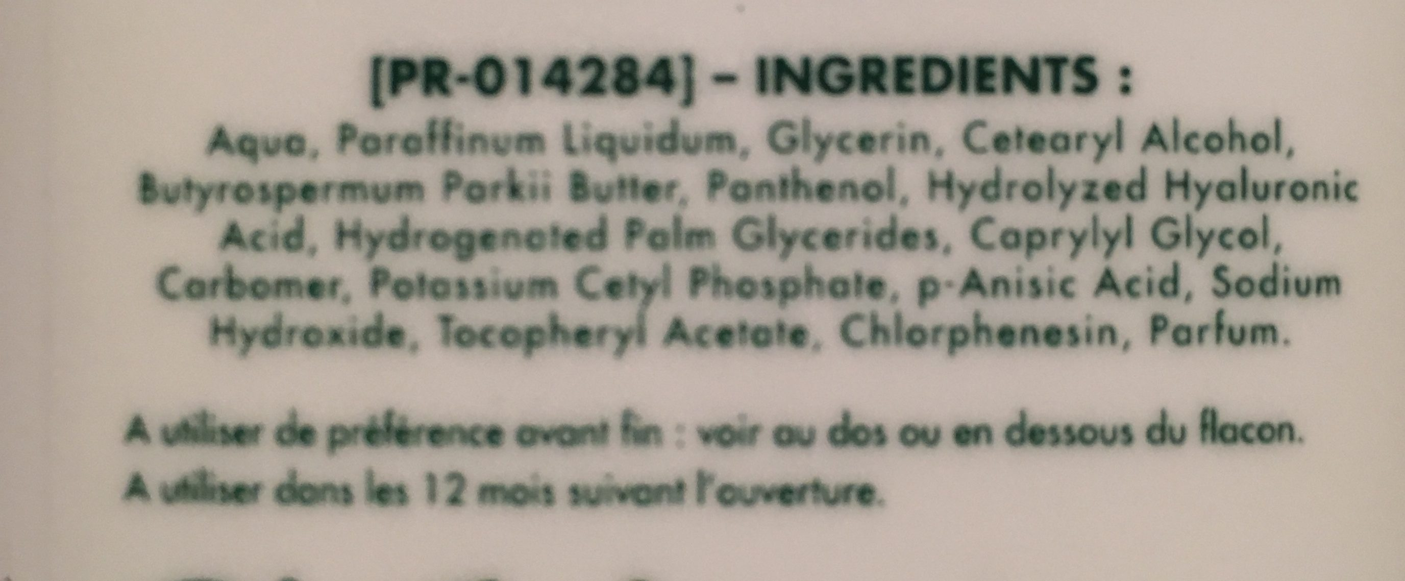 Lait Hydratant Corporel Quotidien - Ingredients - fr