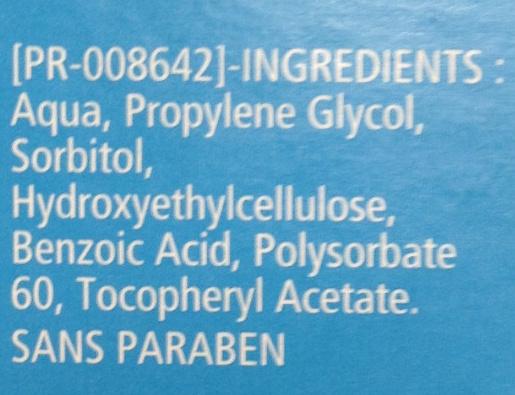 Lubrifiant gel intime - Ingredients - fr