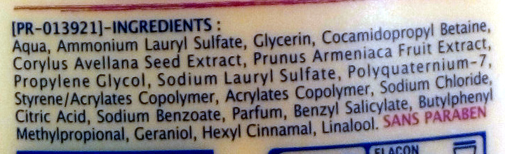 Abricot et noisette douche et bain crème extra doux - Ingrédients - fr
