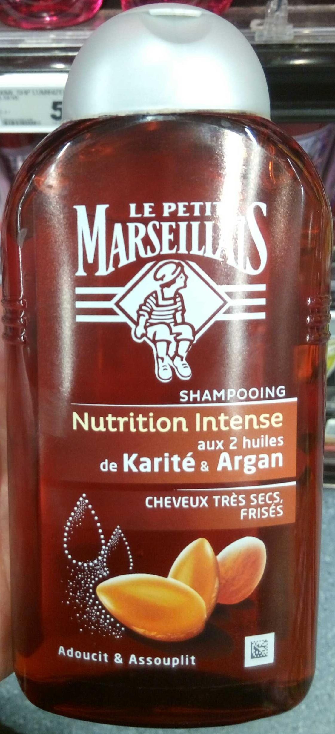 Shampooing Nutrition Intense aux 2 huiles de Karité & Argan - Produit