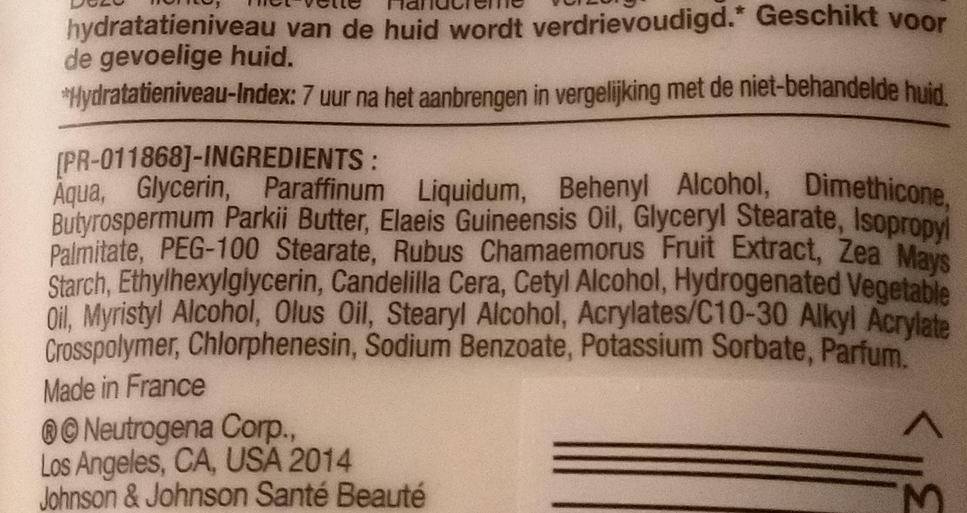 Handcrem mit Nordic Berry - Ingredients - de