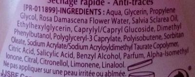 Déodorant Rose Douceur Huile essentielle de Sauge 24H - Ingrédients