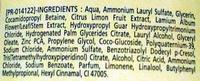 Shampooing Purifiant aux extraits d'Ortie et de Citron - Ingrédients - fr