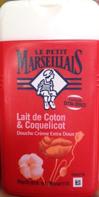 Douche crème extra doux Lait de coton & coquelicot - Product