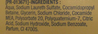 Be Fresh & Retreat - Ingredients
