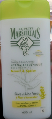 Douche et bain crème hypoallergénique sans savon - Seve d'aloe vera et fleur d'amandier - Product