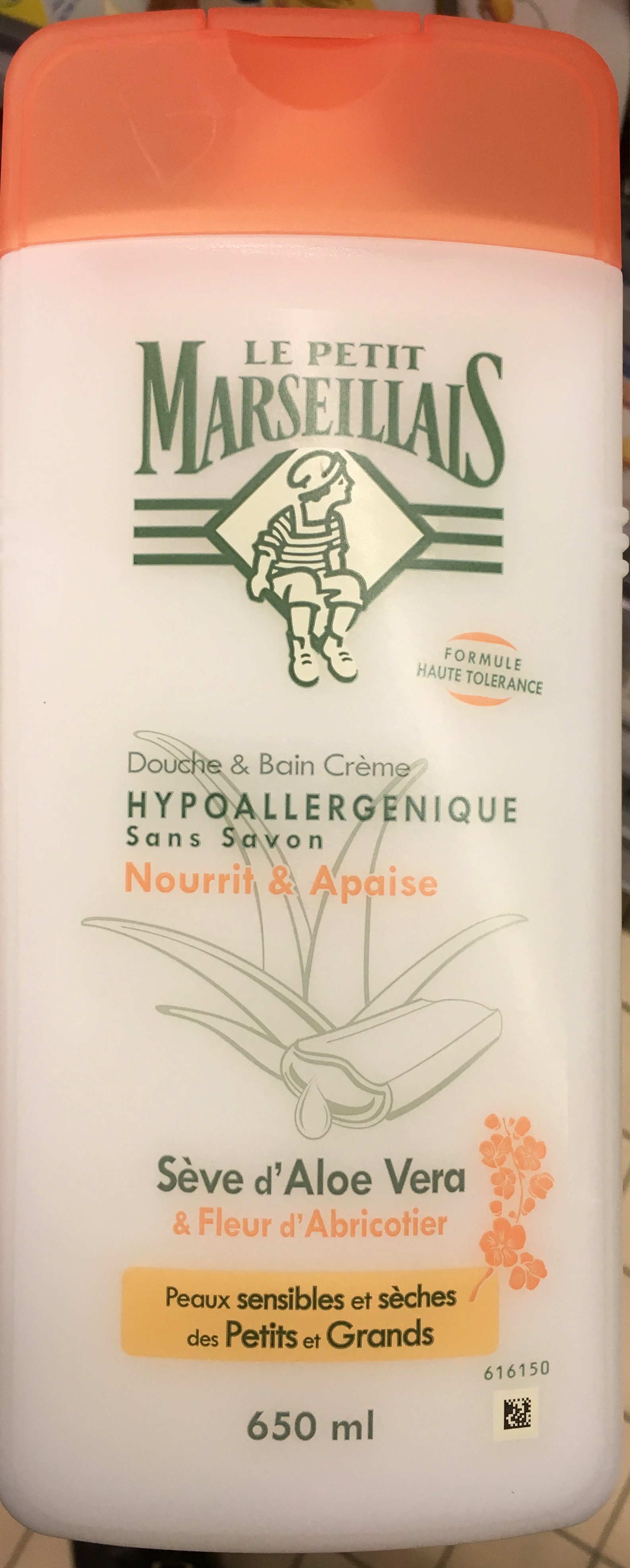 Douche & Bain crème hypoallergenique Sève d'Aloe Vera & Fleur d'Abricotier - Produit - fr