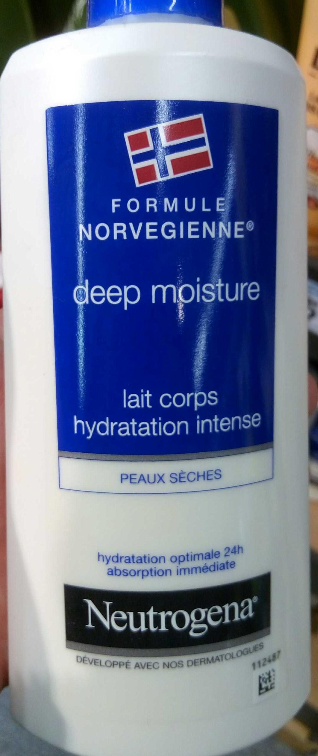 Deep Moitsure formule Norvégienne Lait Corps Hydratation Intense - Produit