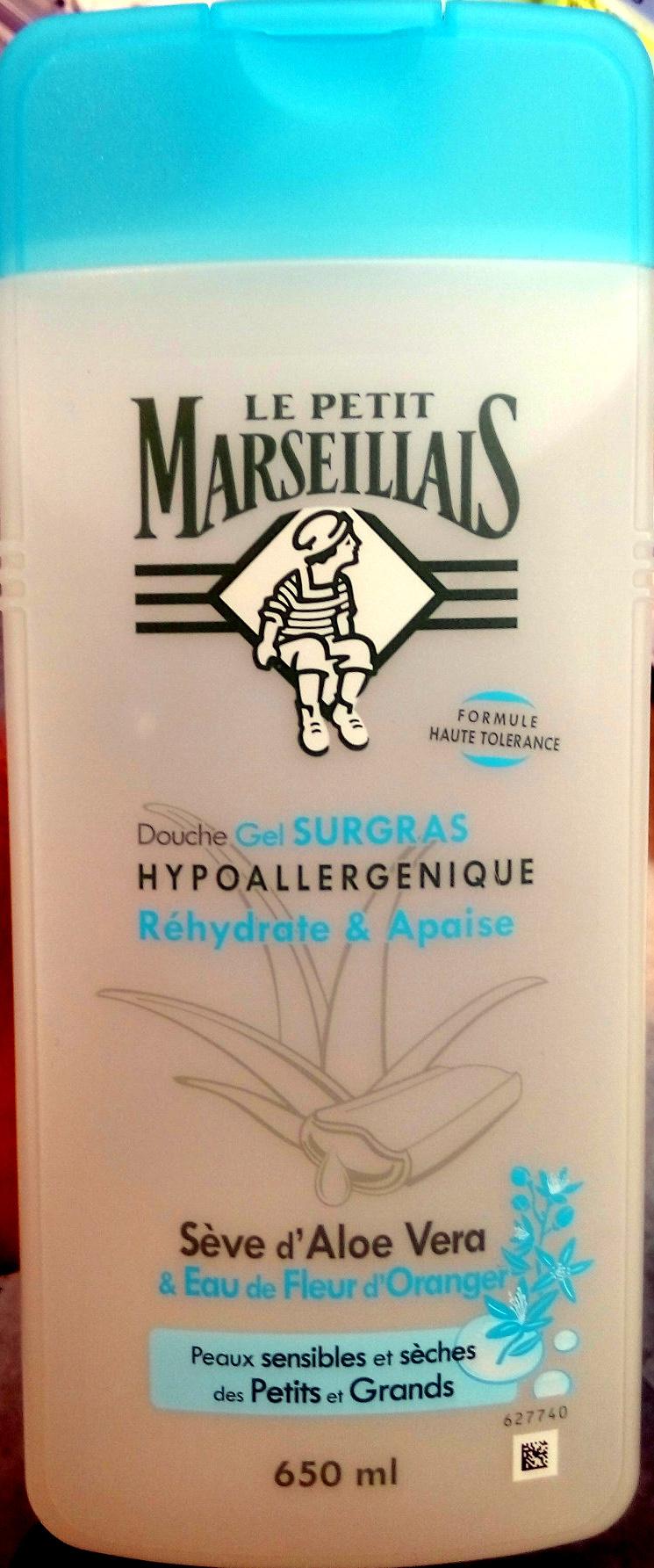 Douche gel surgras hypoallergénique à la sève d'aloe vera et à l'eau de fleur d'oranger - Product - fr