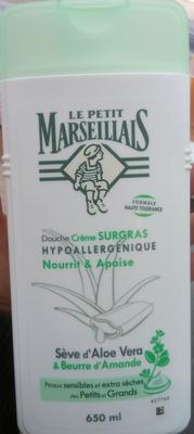 Douche crème surgras hypoallergénique seve d'aloe vera et beurre d'amande - Product - fr