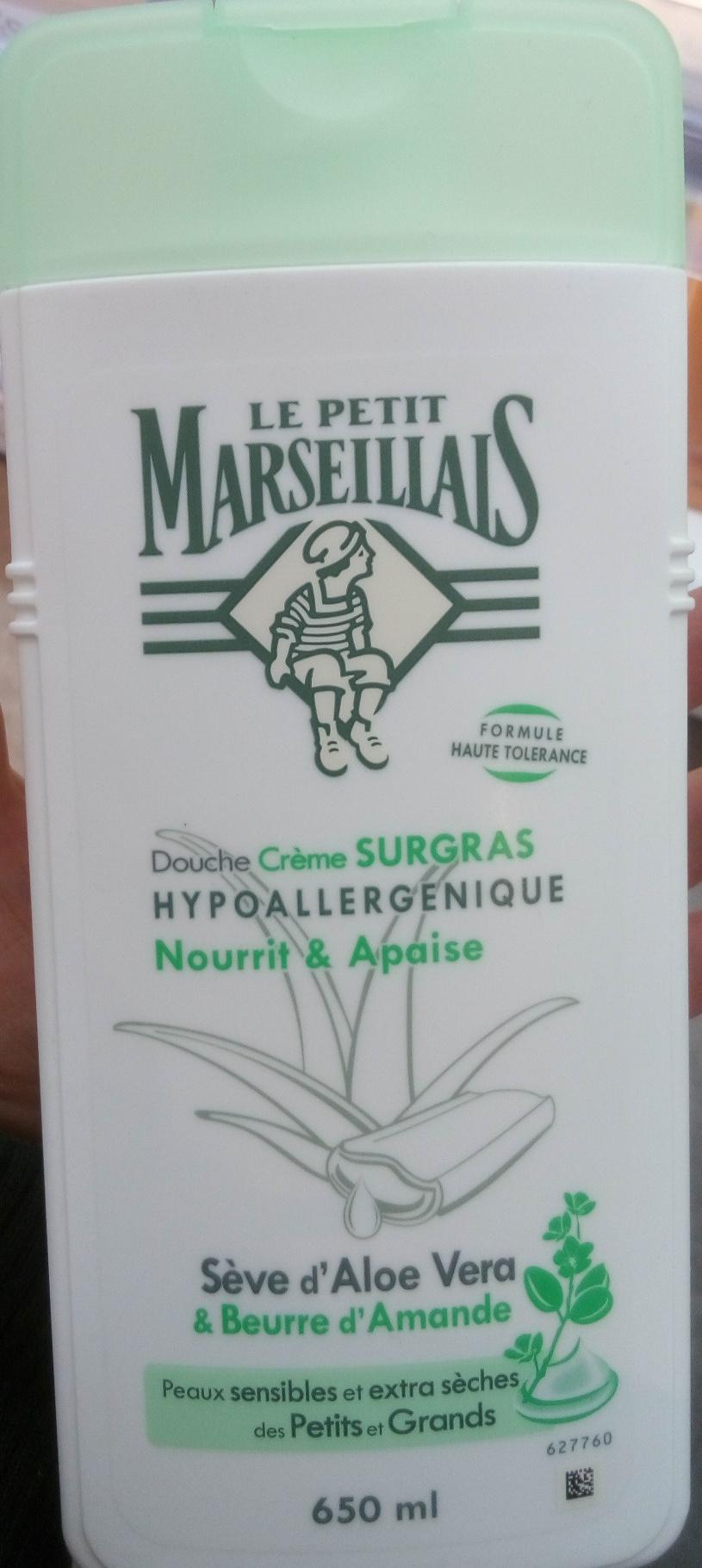 Douche crème surgras hypoallergénique seve d'aloe vera et beurre d'amande - Product